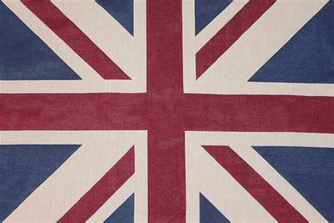 Patriotic Upholstery Fabric by Designer Union Flag Vintage Shabby Cushion