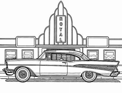 Coloring Pages Cadillac Antique Cars Escalade Transport
