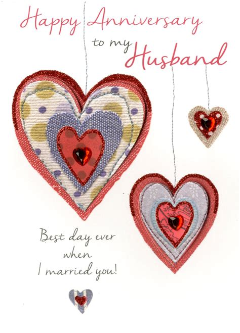 husband happy anniversary greeting card cards