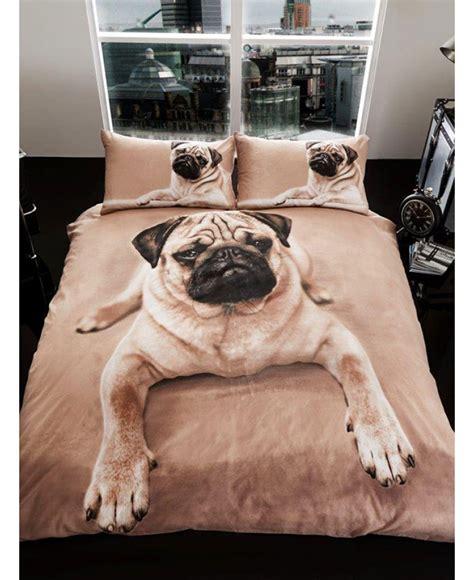 pug puppy king size duvet cover  pillowcase set bedroom