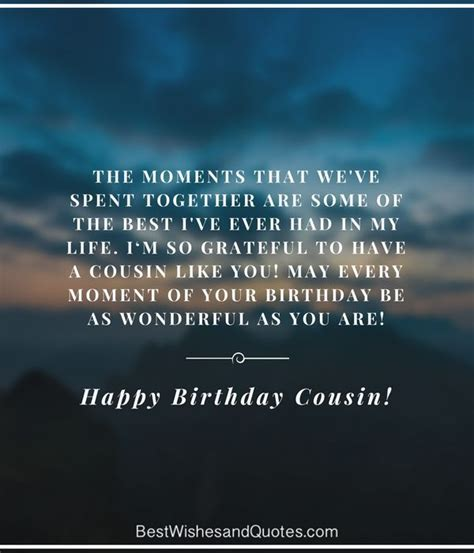 happy birthday cousin quotes wishes  images