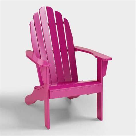 fuchsia adirondack chair world market