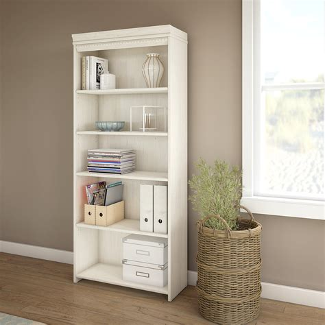 Bookcase White by Fairview 5 Shelf Bookcase In Antique White