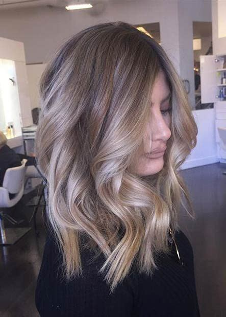 coole und trendige frisuren mittlerer laenge blond