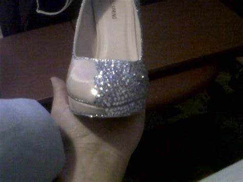 diy bling wedding shoes pics included weddingbee