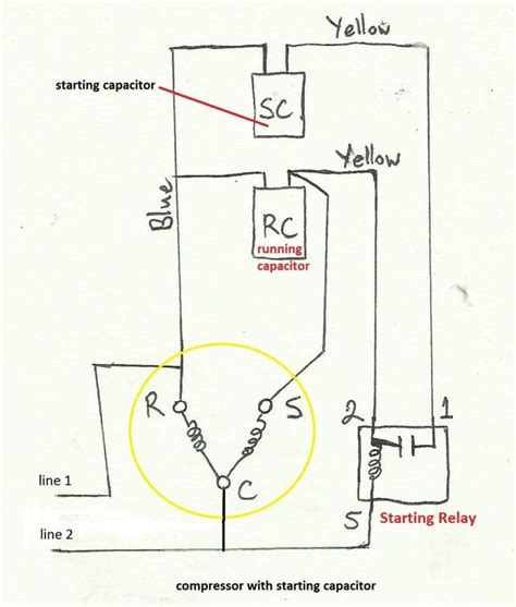 Start Capacitor Wiring Diagram Starting Hvac