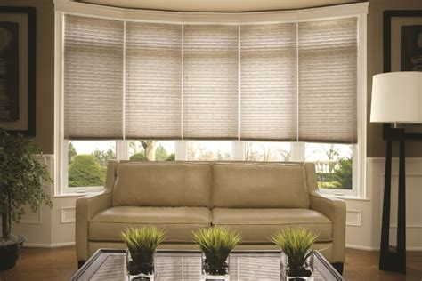 Top 5 Window Treatments For Bay Windows  Budget Blinds. Hickory Kitchen Cabinets. Lamp Table. Arched Window Curtains. Solaria Lighting. Tuscan Home Decor. Microwave Above Stove. Outdoor Fountains. Light Blue Living Room