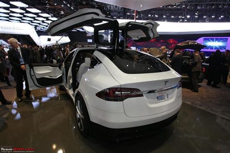 Tesla Suv Horsepower by Tesla Model X Electric Cuv Launch In 2015 Team Bhp