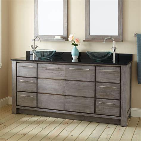 gray double sink vanity 72 quot venica teak double vessel sinks vanity gray wash