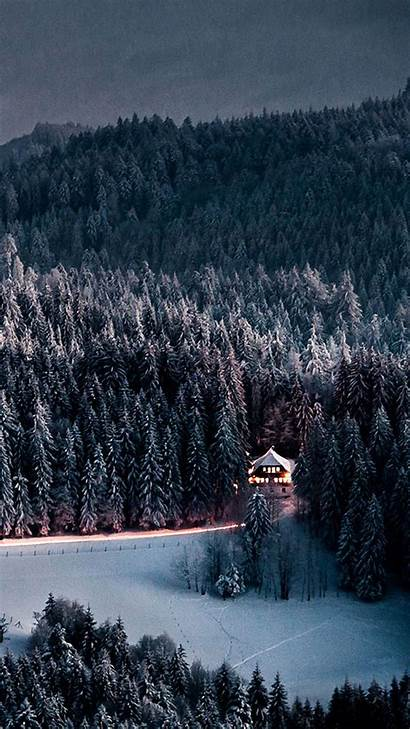 Iphone Winter Forest Snow Snowy Wallpapers Retreat