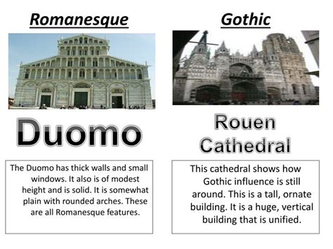 Ppt  Romanesque Vs Gothic Architecture Powerpoint
