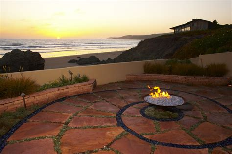 what beaches pits patio pit ideas exterior rustic with aspen tree