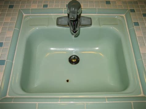 Chipped And Rusty Porcelain Bathroom Sink-reglaze Or
