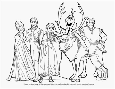 Coloring Frozen All by Printable Frozen Characters Coloring Pages Prace