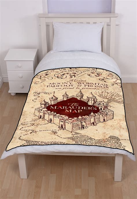 marauders map bedding harry potter marauders map fleece throw blanket