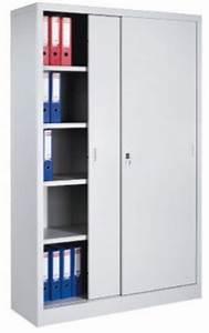 Armoire De Rangement Bureau : armoire haute de bureau avec portes coulissantes ~ Melissatoandfro.com Idées de Décoration