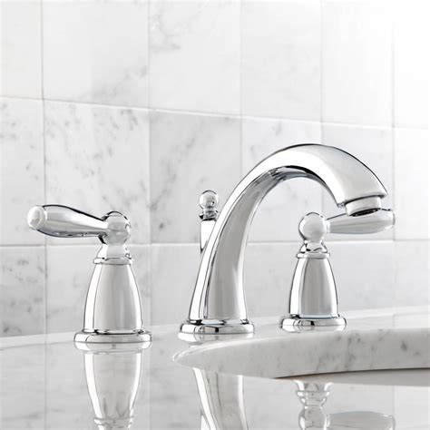 Chrome Bathroom Fixtures by Moen T6620 Brantford Chrome Two Handle Widespread Bathroom