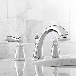 Moen T6620 Brantford Chrome Two Handle Widespread Bathroom Faucets