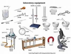 Laboratory equipment learning the vocabulary l