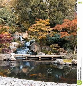 Waterfall, In, London, In, Autumn, Stock, Image