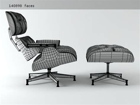 eames lounge chair and ottoman 3d model vitra
