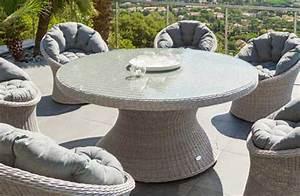 Table De Jardin Tressé : table de jardin ronde hesp ride mod le manille 6 places ~ Teatrodelosmanantiales.com Idées de Décoration