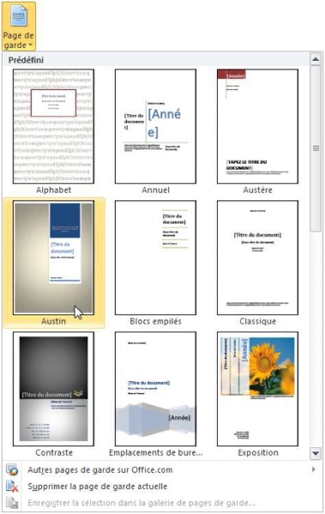 page de garde moderne mise en forme du document r 233 digez facilement des documents avec word openclassrooms