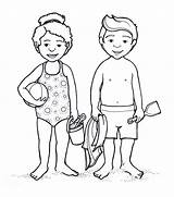 Coloring Pages Parts Human Suit Bathing Outline Anime Bikini Female Swimming Preschoolers Drawing Clipart Child Boy Swimsuit Printable Clip Template sketch template