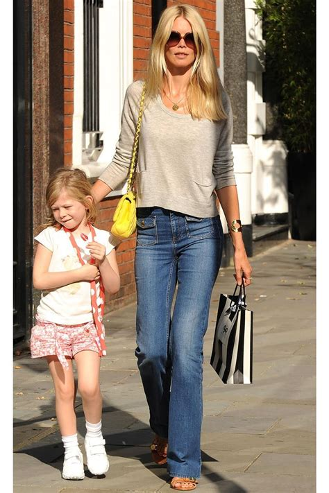 The 14 Most Stylish Model Moms Claudia Schiffer Casual