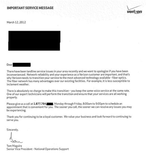 Verizon Testing Resume by Verizon You Totally Need This Unnecessary Fios Upgrade Consumerist Customer Upgrade Letter