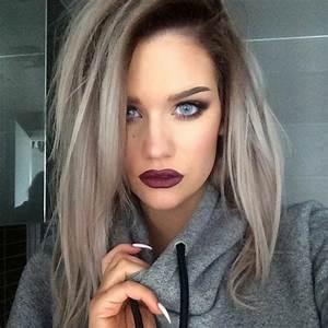 Blond Grau Haarfarbe : k hle haarfarben in mehr als 70 fotos ~ Frokenaadalensverden.com Haus und Dekorationen