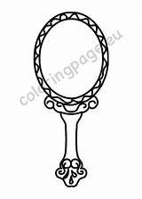 Mirror Drawing Hand Coloring sketch template