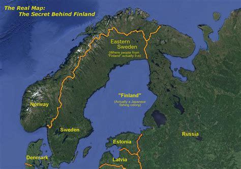 Finland No 1 Scandinavia Tops List Of S Quot Finland Is Not Quot Conspiracy Map Imaginarymaps