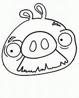 Coloring Pig Pages Angry Birds Mustache Face Walrus Pigs Drawing Bird Moustache Cute Drawings Template Sheets Printable Clipart Clipartmag Popular sketch template