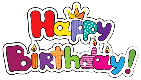 Colorful Happy Birthday Png Clipart Image Gallery