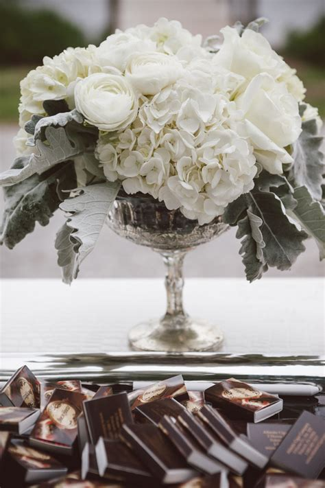 white flowers  silver vase elizabeth anne designs