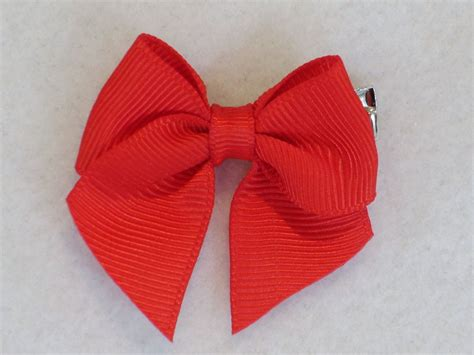 Red Hair Bow Pc Dog