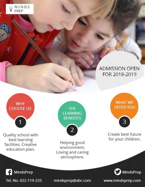 school admission modern poster  flyer template school