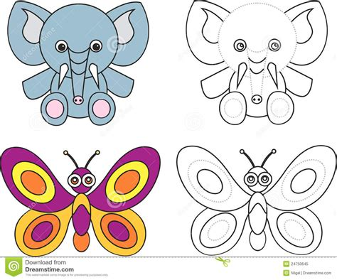 butterfly clipart elephant pencil   color butterfly
