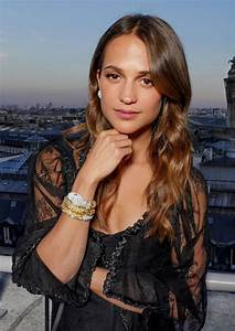 Alicia Vikander - Bvlgari Puo Up Store Ribbon Cutting at ...