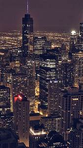 City Night Sky View Modern Buildings Skyscrapers Android ...