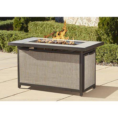 cosco outdoor serene ridge aluminum propane gas pit