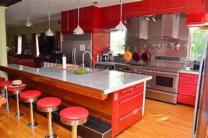 modern kitchen with red cabinets 1198