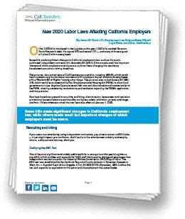 Credit will be given only if all correct choices and no incorrect choices are. Download the New 2020 California Labor Laws White Paper - HRWatchdog