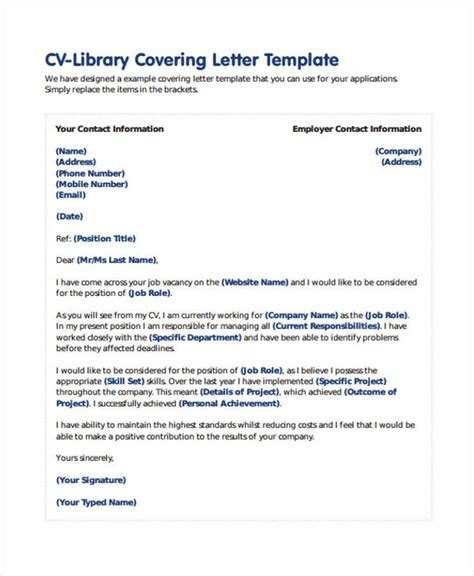 librarian cover letter  premium templates
