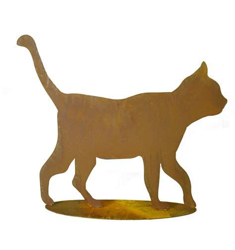 Gartendeko Katze Holz by Sch 246 Ne Rostige Gartendekoidee Gehende Katze