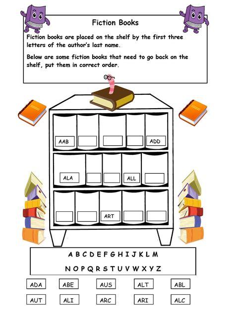 alphabetical order   shelf worksheet library