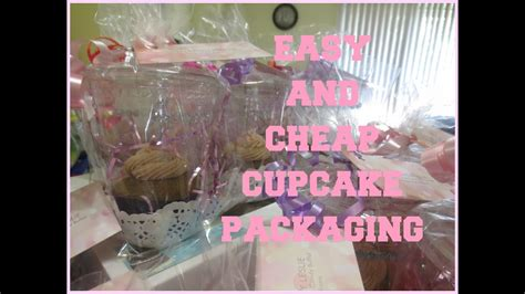 easy  cheap cupcake packaging youtube