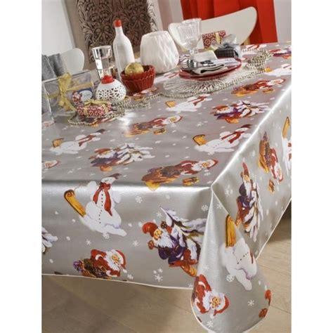 nappe en toile cir 233 e ronde 140 cm noel argent achat vente nappe de table soldes d hiver
