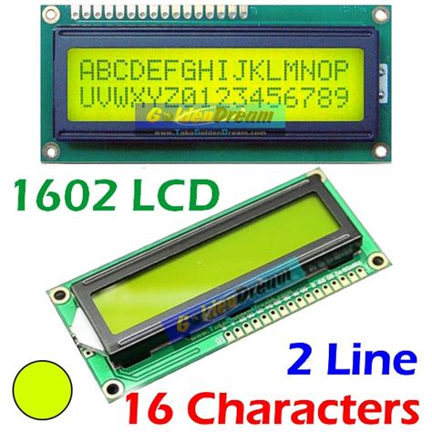 lcd karakter 16x2 hijau jual lcd 1602 green background hijau tulisan hitam 16x2